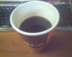 mcdonalds half-filled coffee