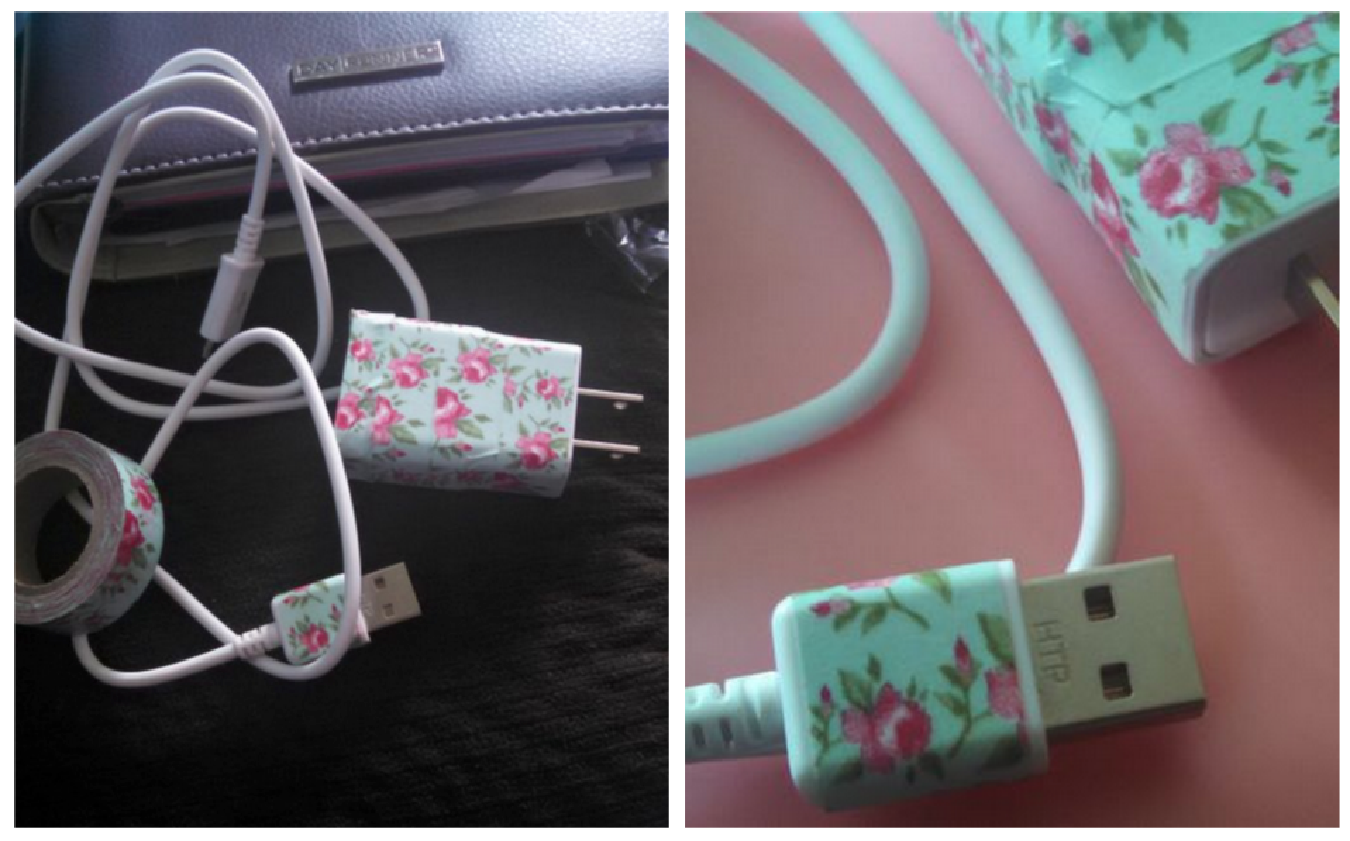 Cover your charger with Washi!
